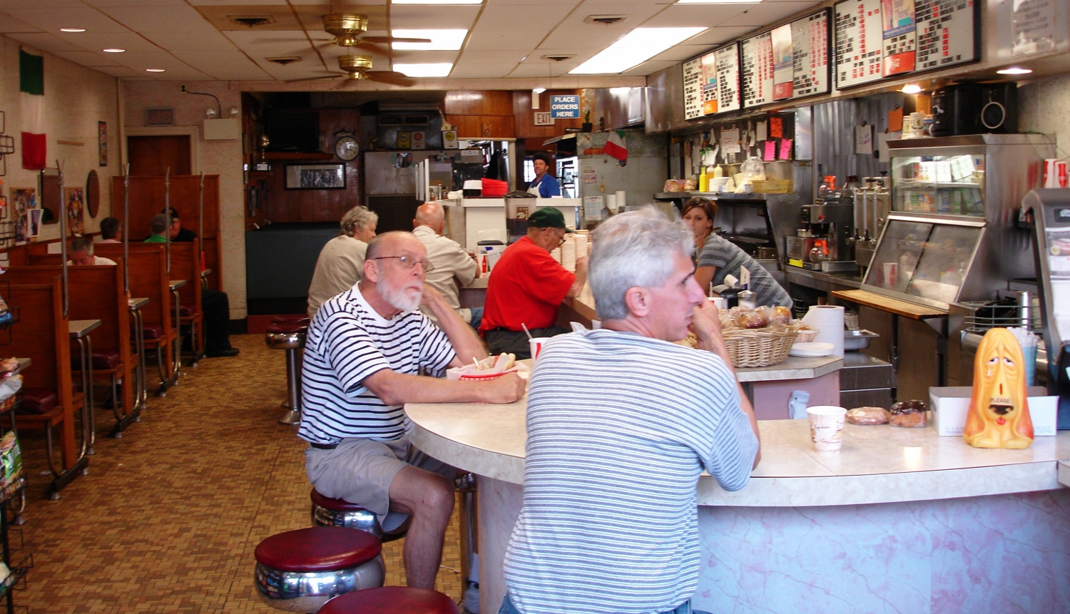 Lou's is the local Norristown gathering spot.