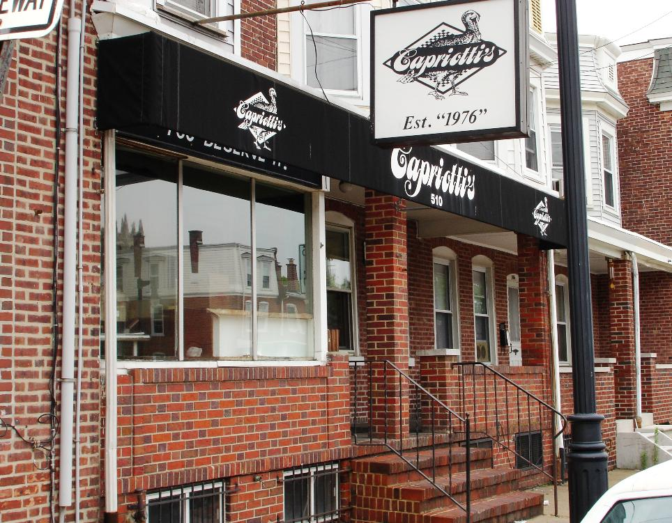 The original Capriotti's shop can be found in the old Italian section of Wilmington.