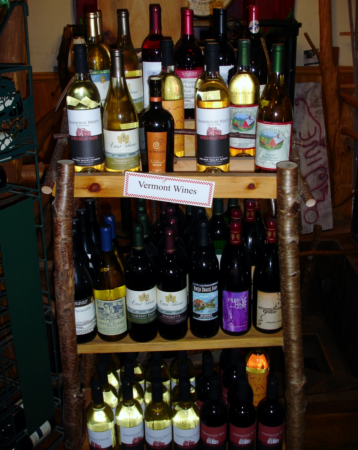 Wine, Original General Store, Pittsfield, VT
