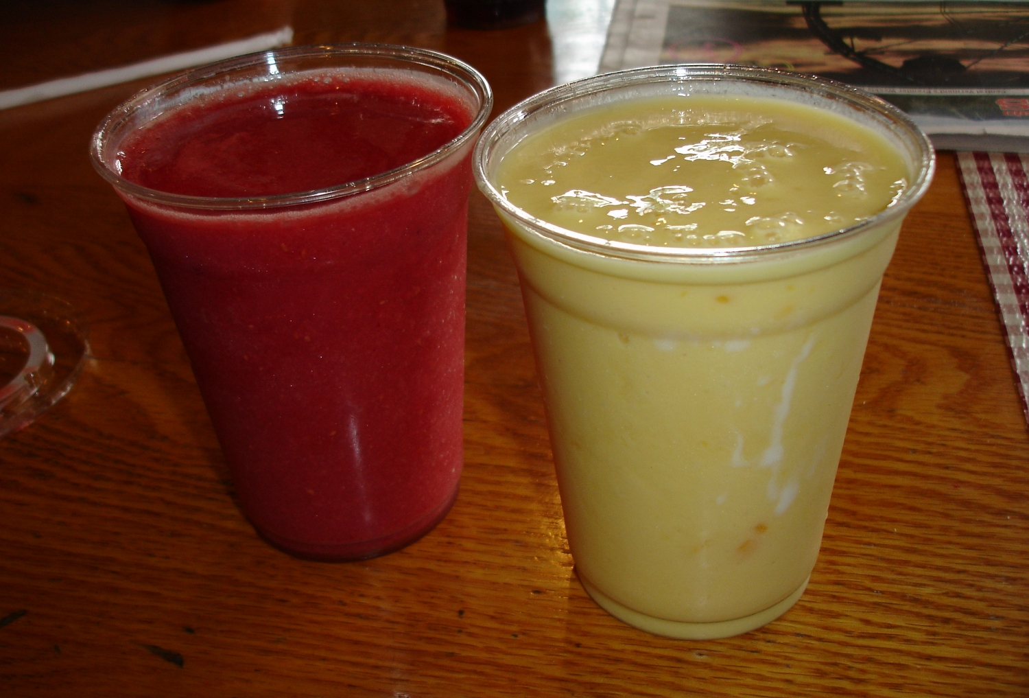 The Very Berry Smoothie and a smoothie special, Mango Lassi