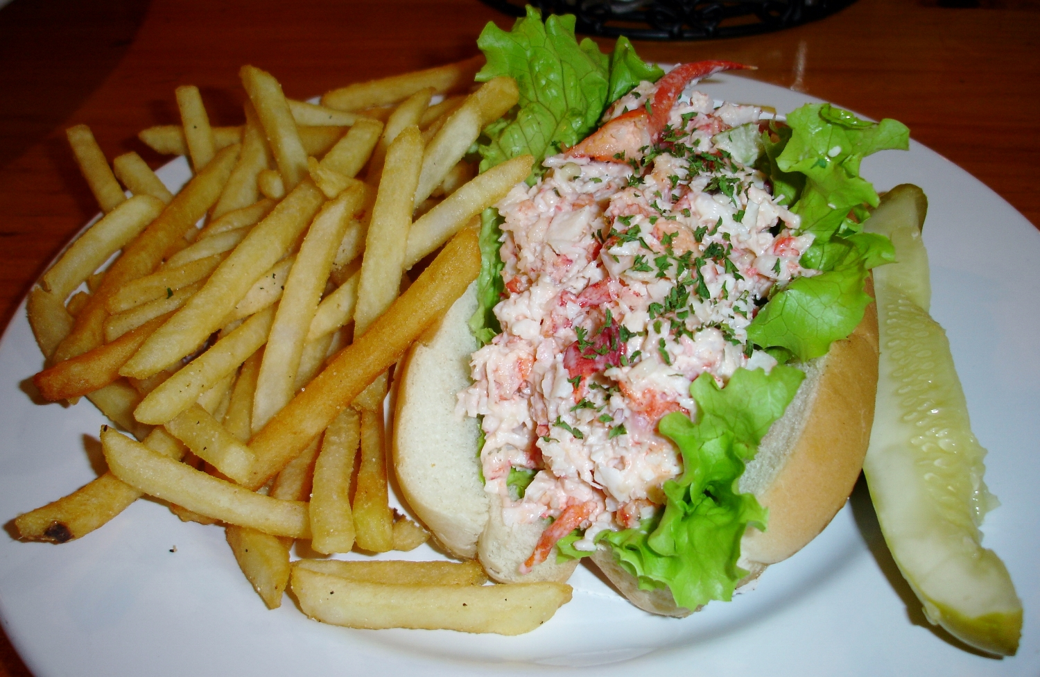 The lobster roll has been served since the 1940s when the Toziers still owned the place.