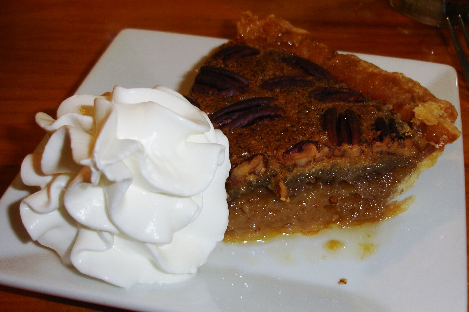 Maple pecan pie, like all the pies at Tozier's, are baked by Sharon Campbell.
