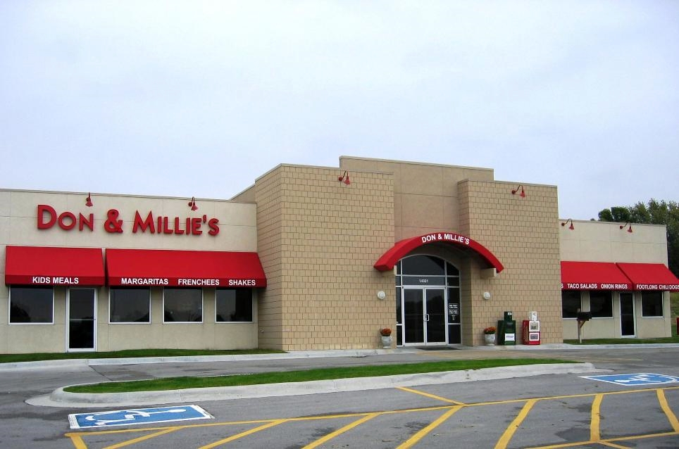 There are a few Don & Millie's restaurants in Omaha, a couple in Lincoln, and one in Bellevue.