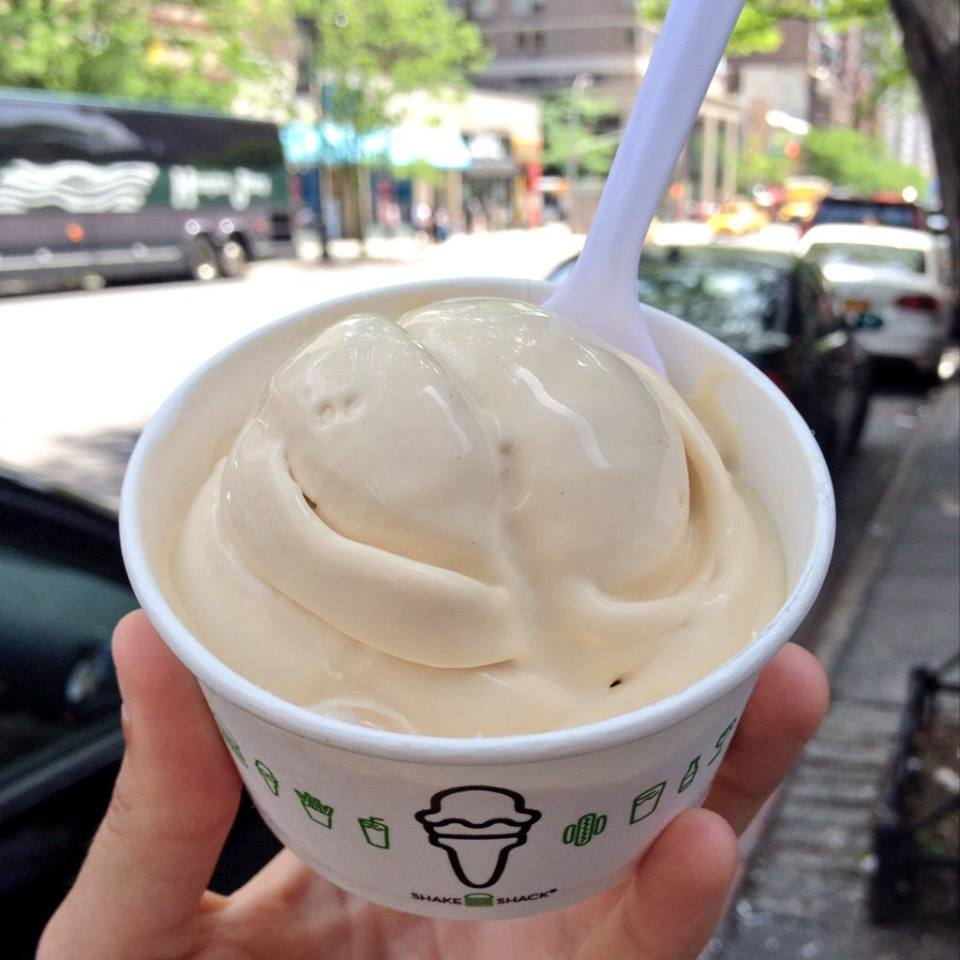 Frozen custard from Shake Shack