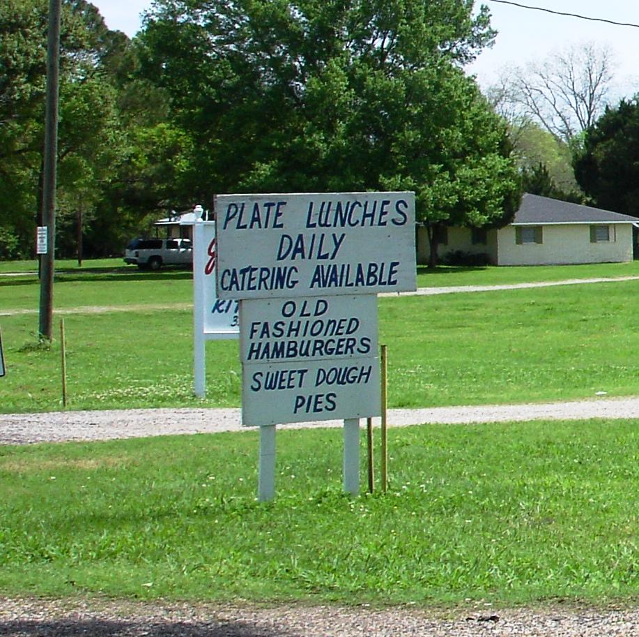 Plate lunch, seven days a week, is the only meal served at Glenda's. We, unfortunately, had no appetite left to enjoy those sweet dough pies.