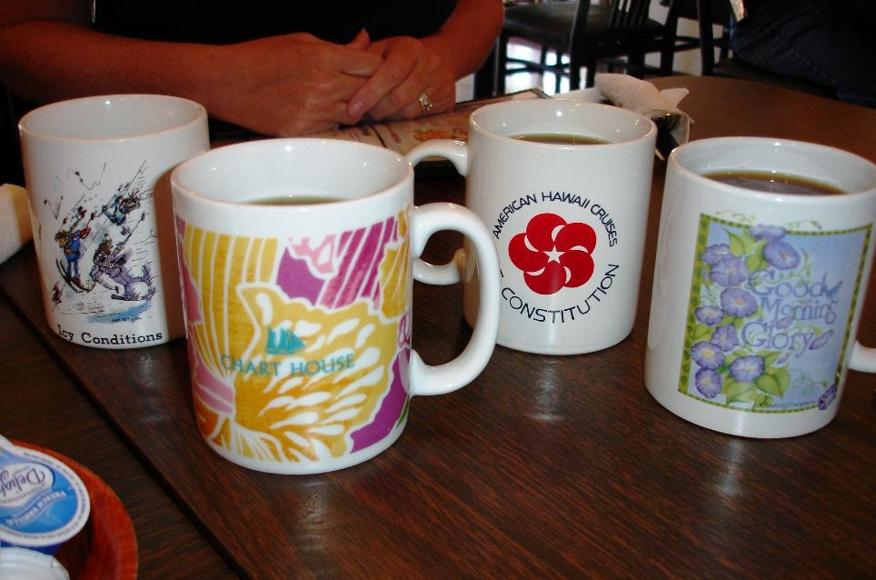 An assortment of coffee mugs