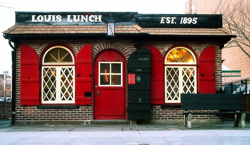 Did Louis Lunch of New Haven invent the hamburger? Many people believe so.