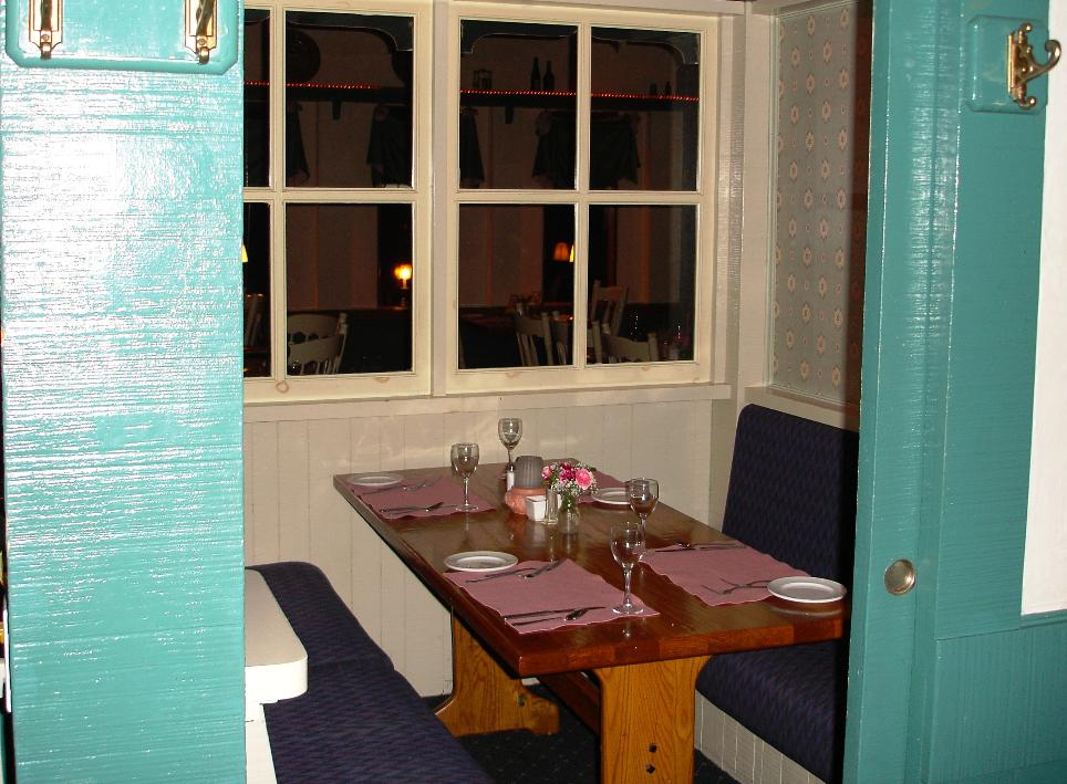 """There are a few """"private parlours"""" available for truly private dining."""