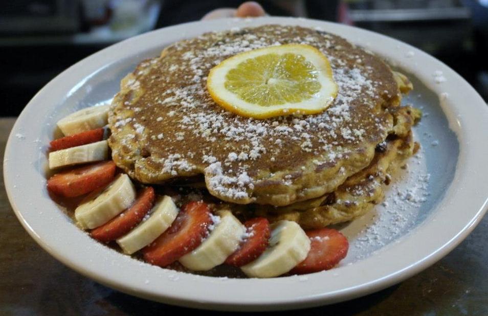 Pancakes as served at San Antonio's Green Vegetarian Cuisine