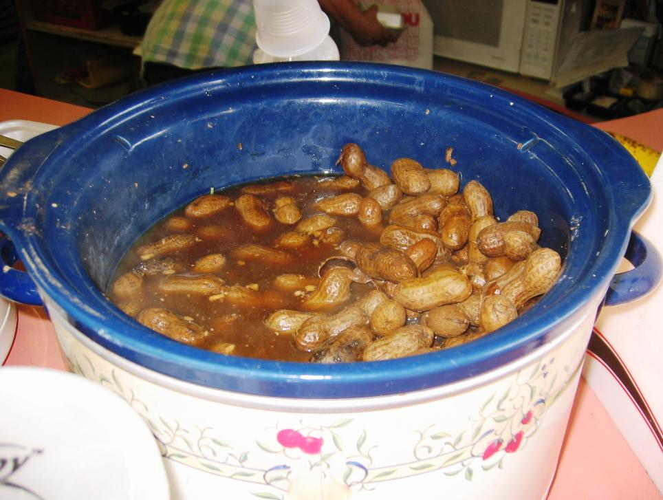 The beany taste of boiled peanuts reminds us that peanuts are actually legumes.