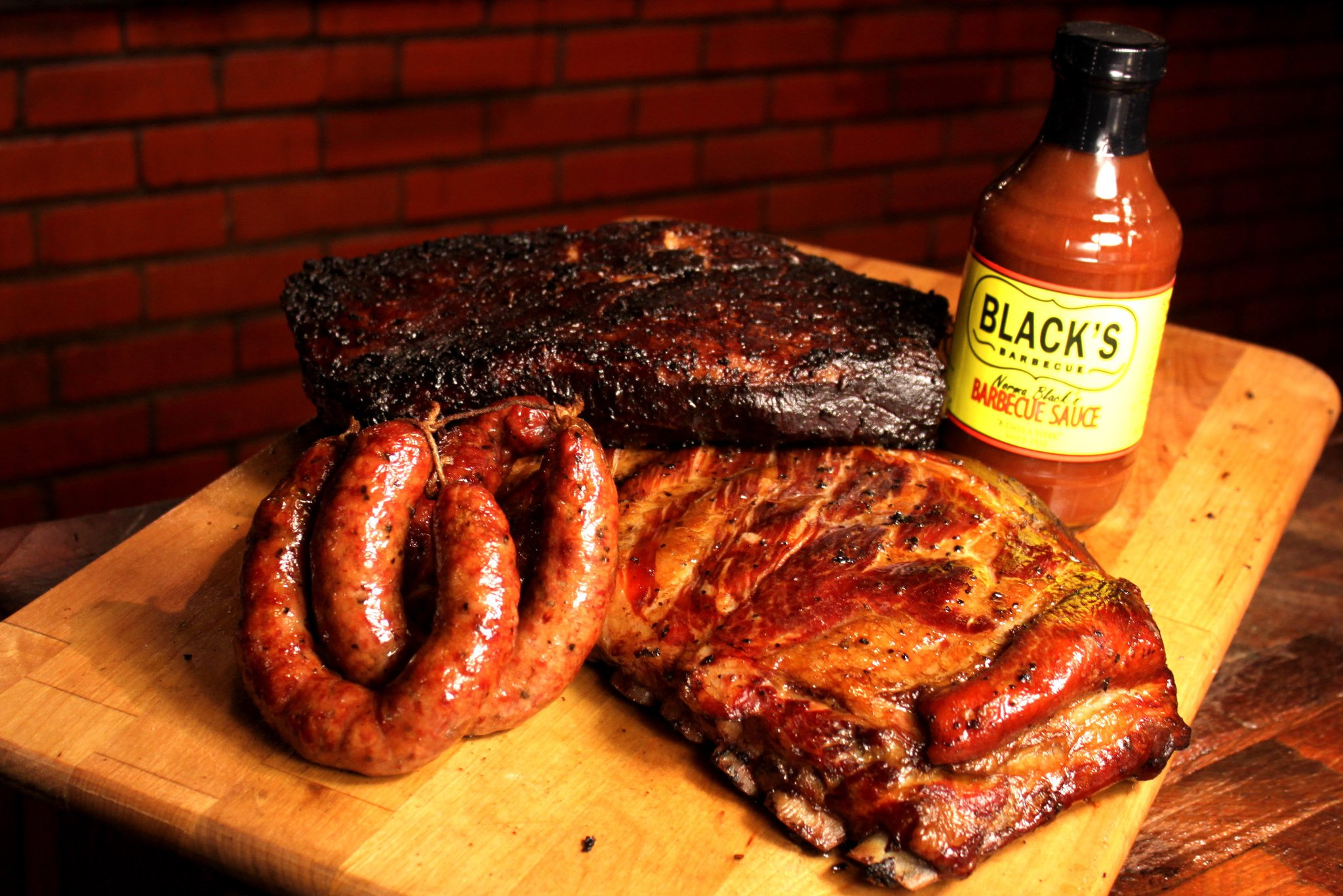 An assortment of barbecue from Black's of Texas
