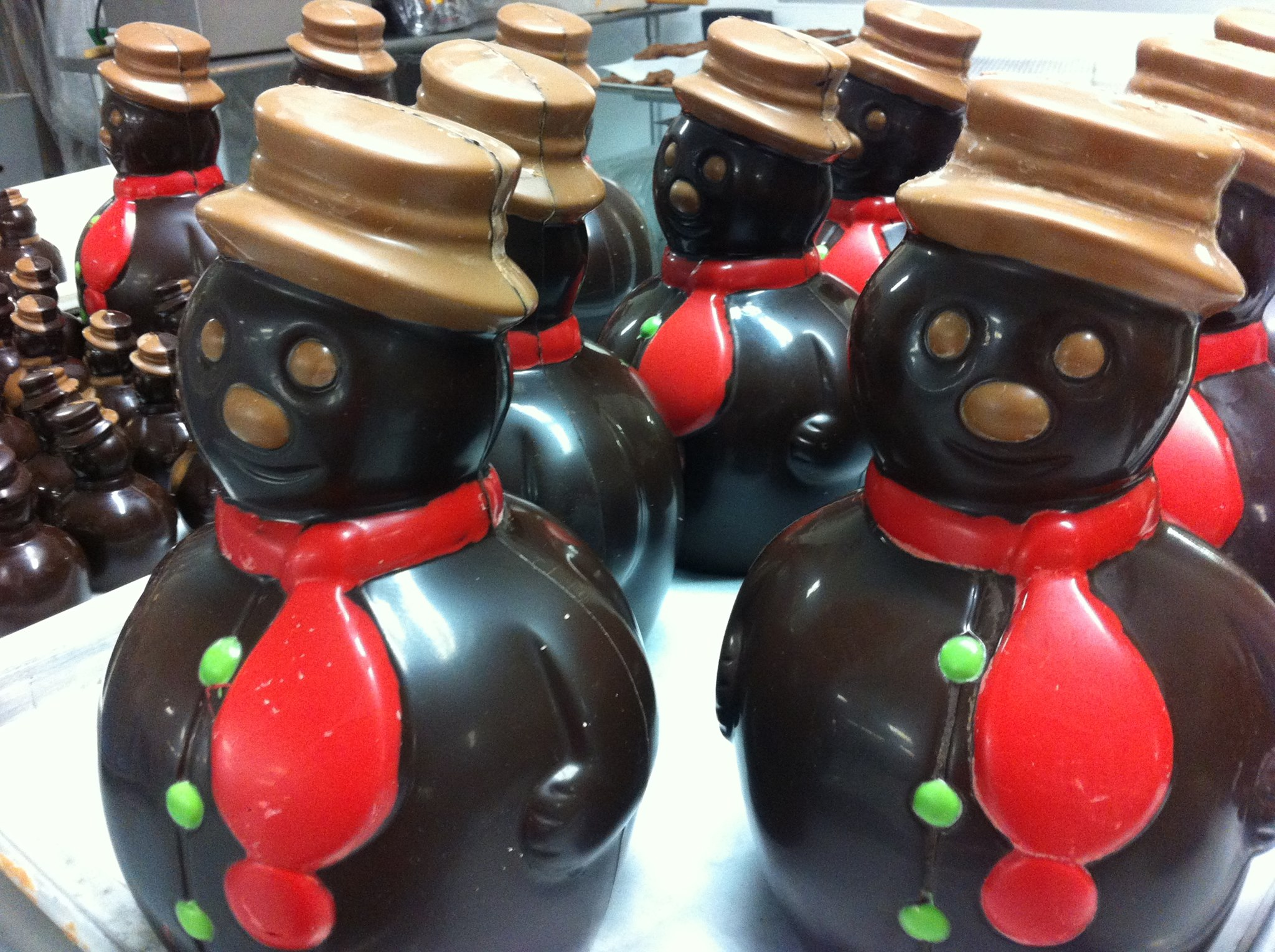 Chocolate snowmen fro Jacques Torres Chocolate