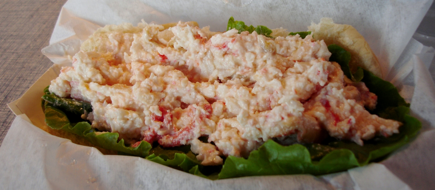 A bargain lobster roll from one of the fair vendors could have been worse. OK for fair food.