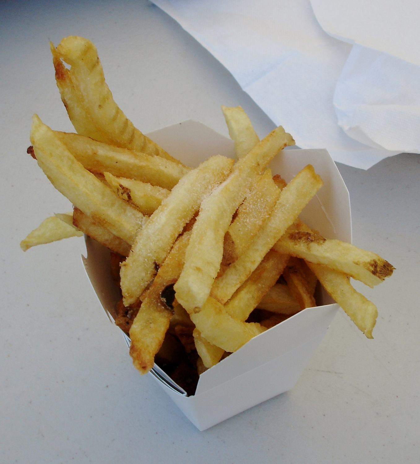 "Roxie's fries are the most ""famous"" thing to eat at the fair. Roxie's is much loved around here, and the stand is open in the warmer months even when the fair is not being held."