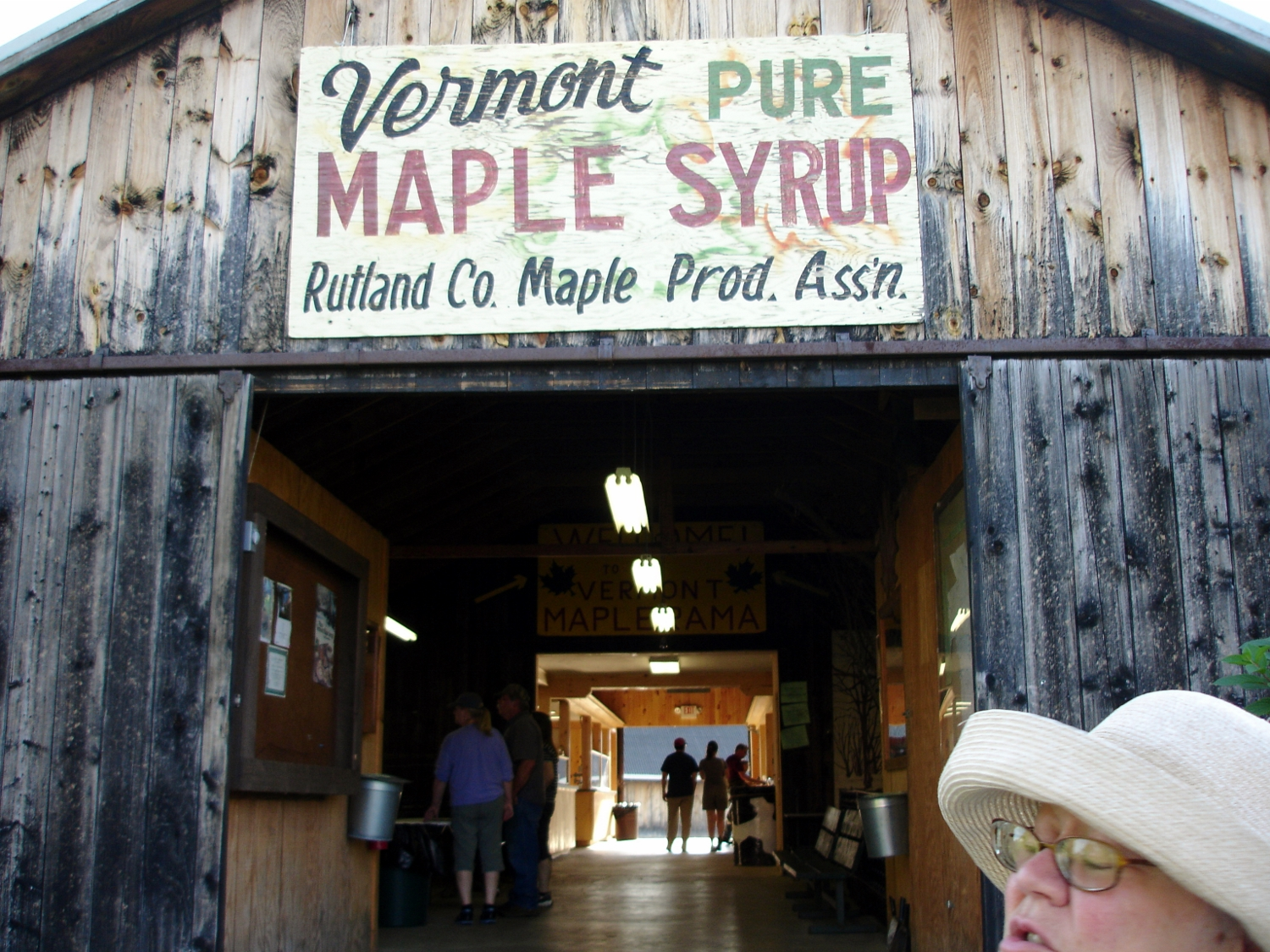 The maple building was the most interesting spot in the fair!