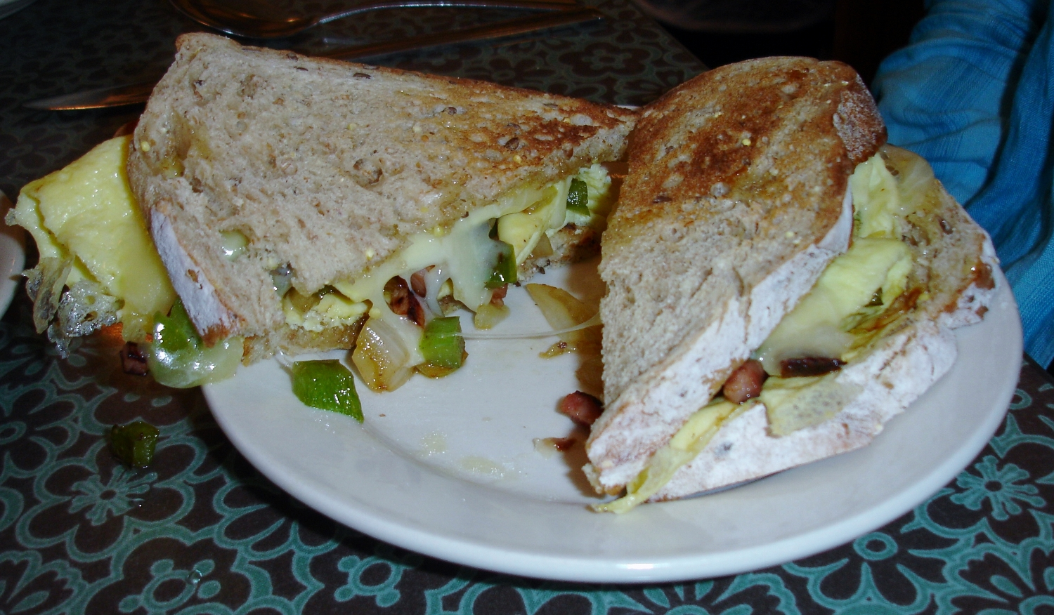 Western Sandwich with Cheese, served on multigrain toast