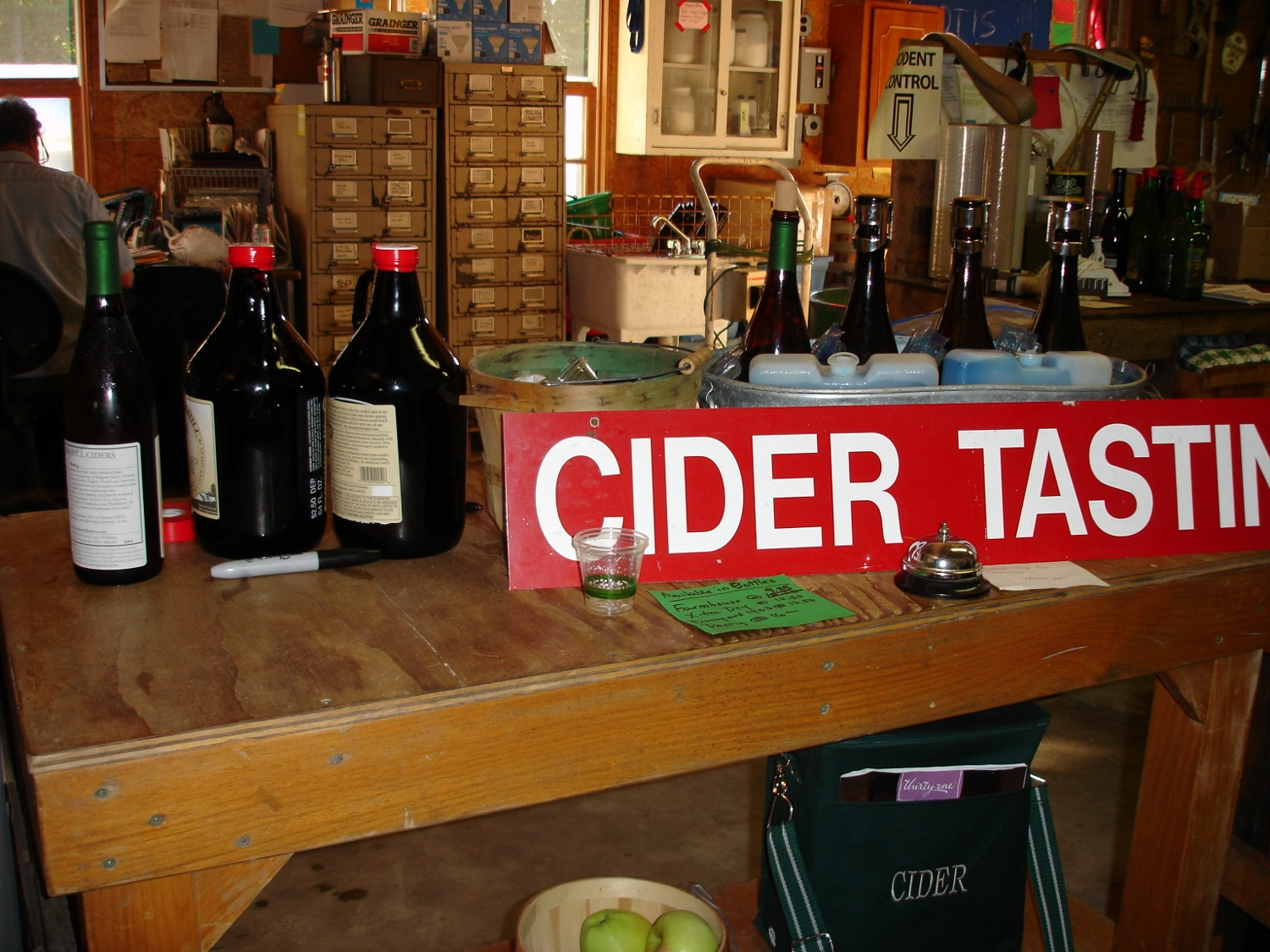 Get your growlers filled in the Cider Room.