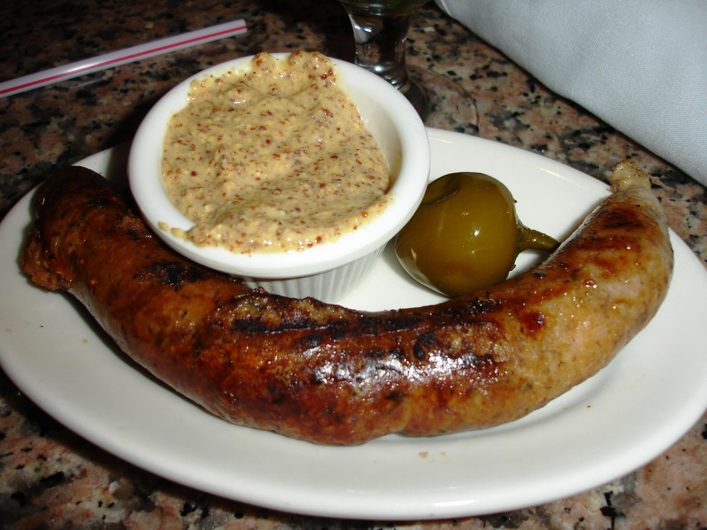 The grilling is unorthodox but you can get a taste of Cajun boudin if you wish, with some good mustard.