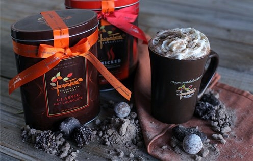 You can have Jacques Torres' hot chocolate mix delivered to your door!