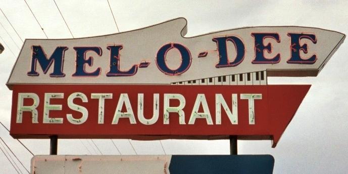 Sign, Mel-O-Dee, New Carlisle, OH