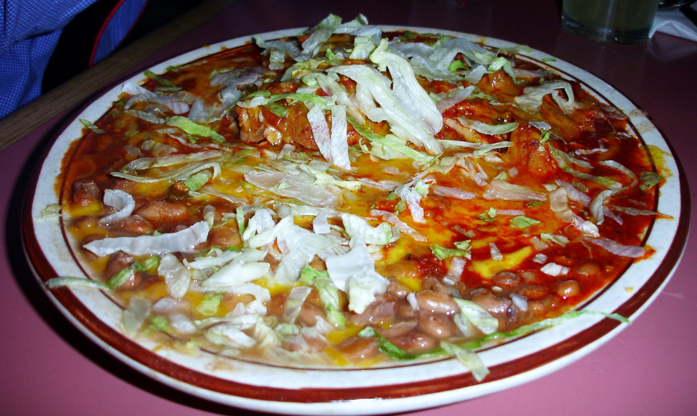 You can also get your adovada as part of a stacked enchilada plate.