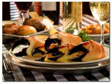 Let's see, the current tariff for an order of jumbo stone crab claws at Joe's Stone Crab of Miami is $89.95. Is it any wonder they they are the second highest grossing independent restaurant in America?