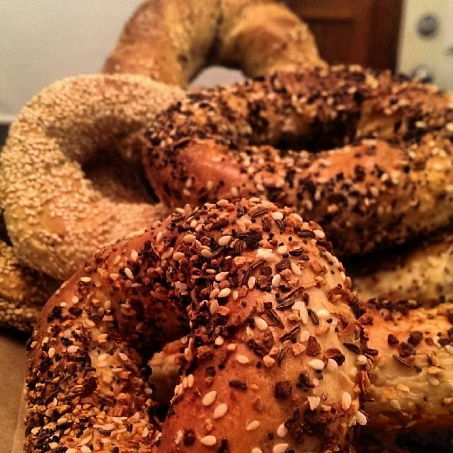 An assortment of big-holed Montreal-style bagels from Fairmount