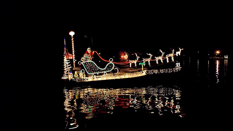 The annual boat parade is Saturday the 13th.