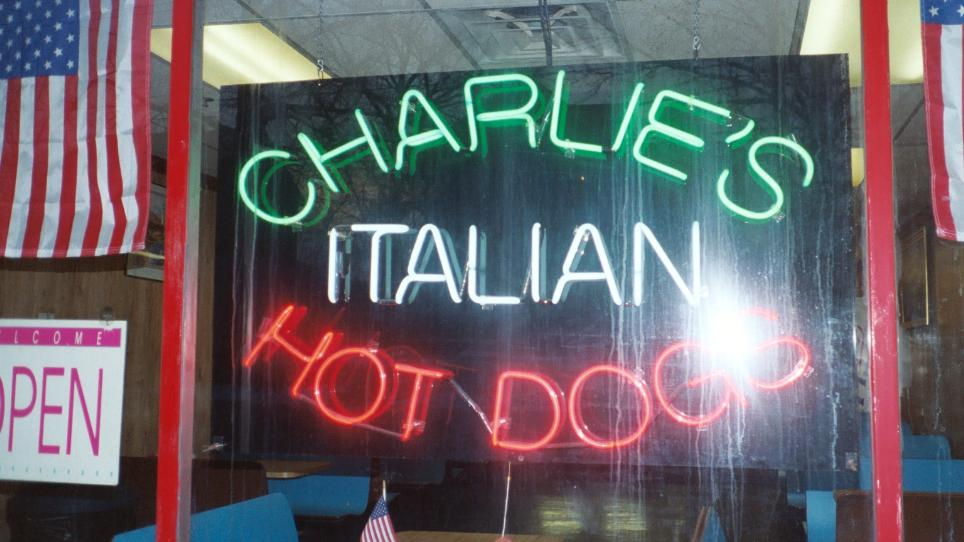 The Charlie's sign