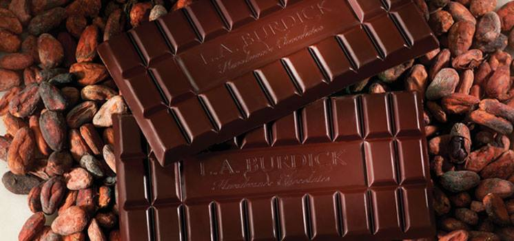 L.A. Burdick sells seven different single-origin chocolate bars.