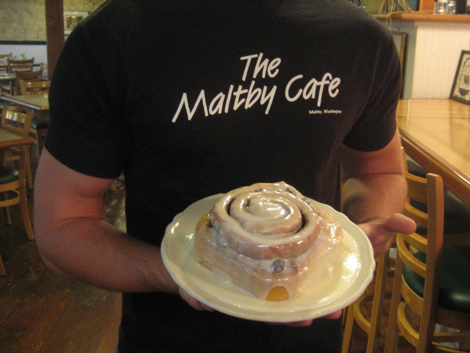 Nothing's more popular at The Maltby Cafe than their homemade cinnamon rolls.