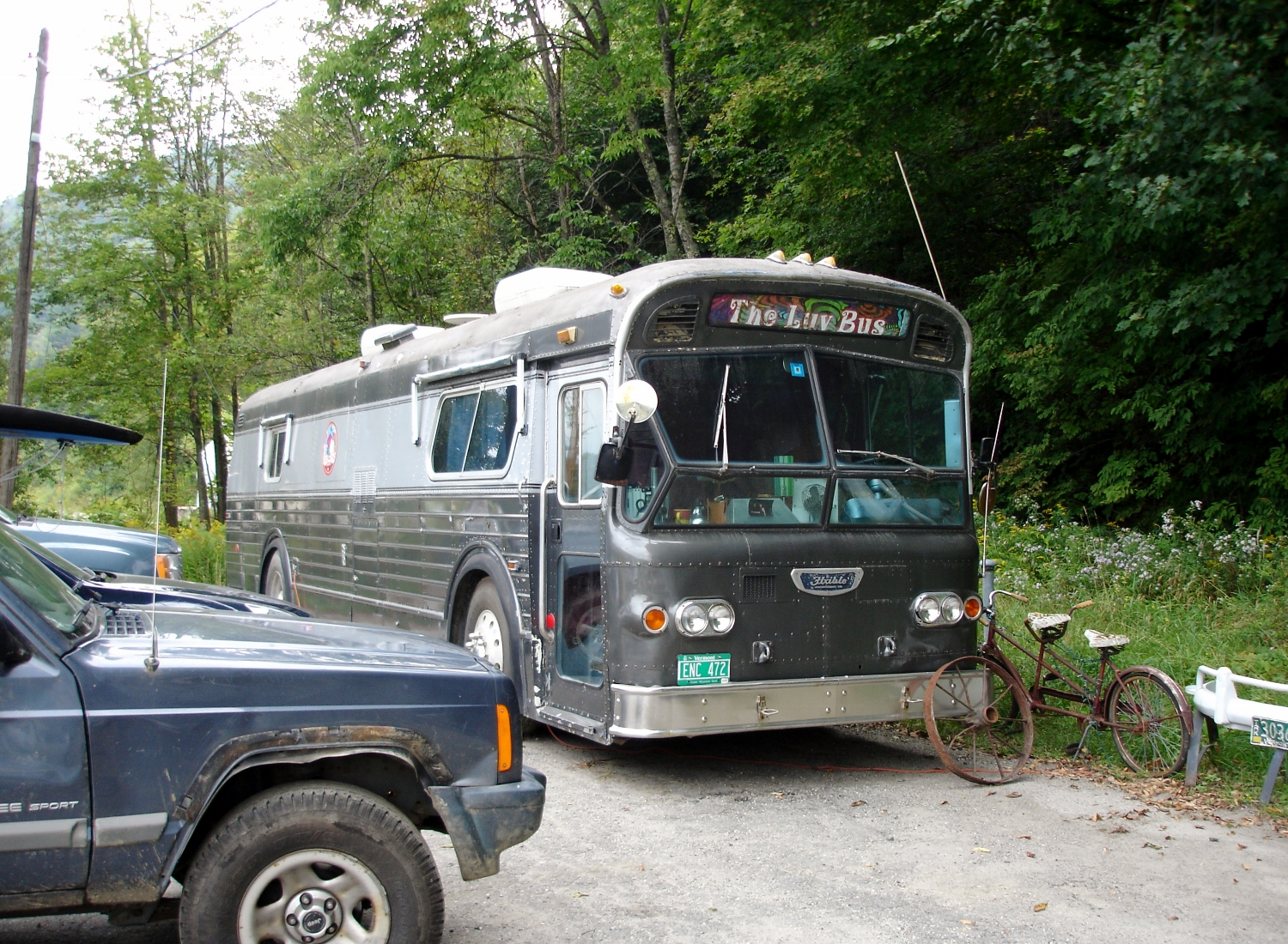 When Rick Redington & The Luv (with Heather Lynne) perform, they travel by Luv Bus.