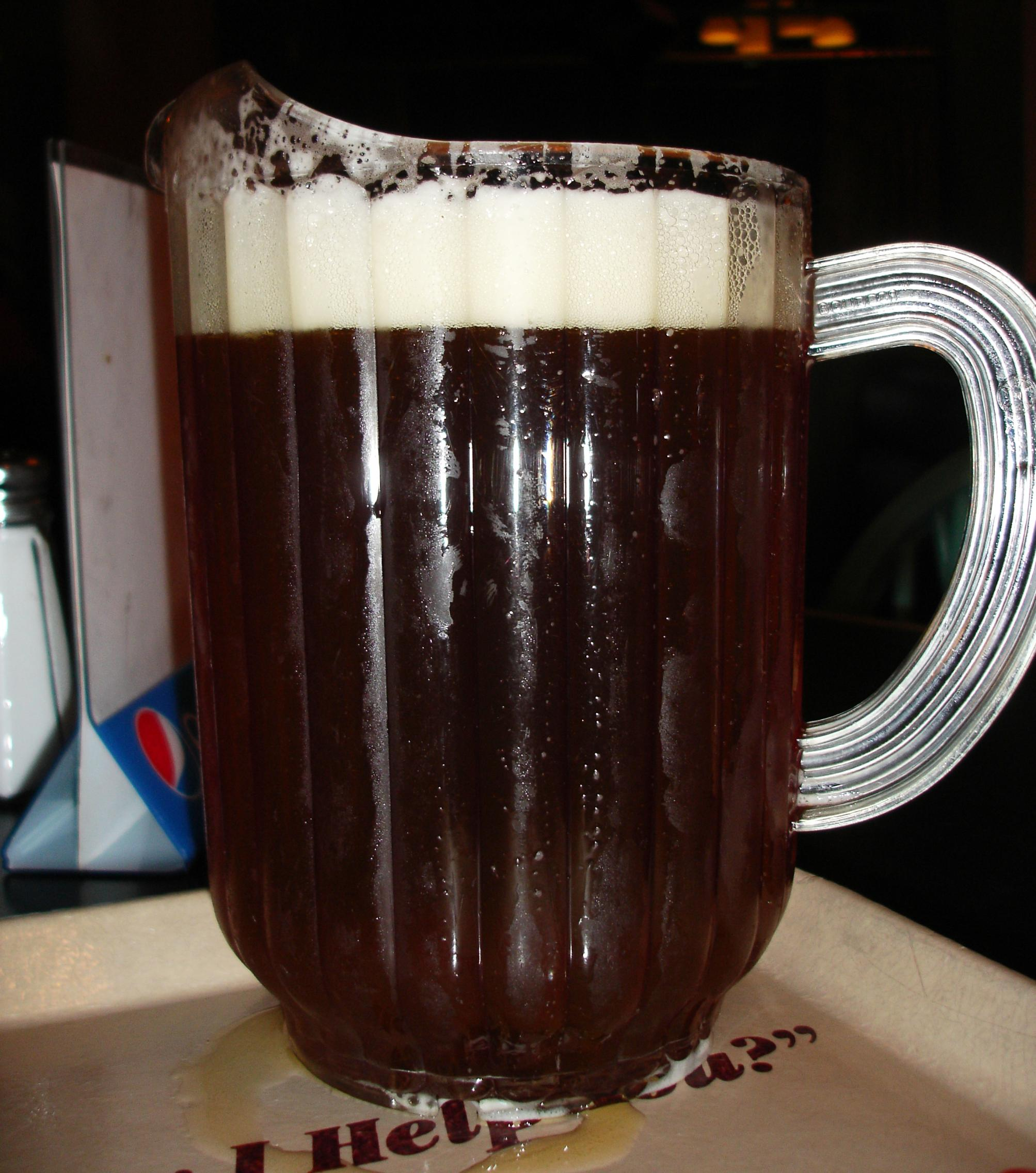 A big pitcher of local, and excellent, Boulevard ale