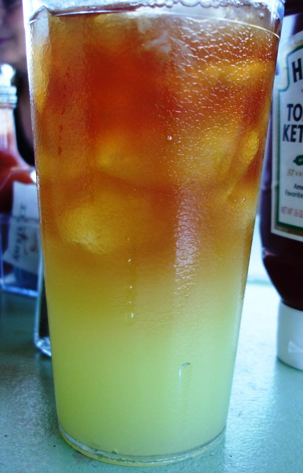 We are huge fans of the half-tea/half-lemonade beverage often called an Arnold Palmer. At M&M, they serve something called Muddy Water; same half-and-half proportions, but they are layered, not mixed. And the lemonade is homemade. Terrific!