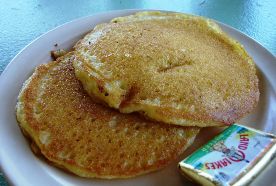 M&M serves the kind of cornmeal pancakes more commonly found in Nashville than Las Vegas. Best eaten hot!