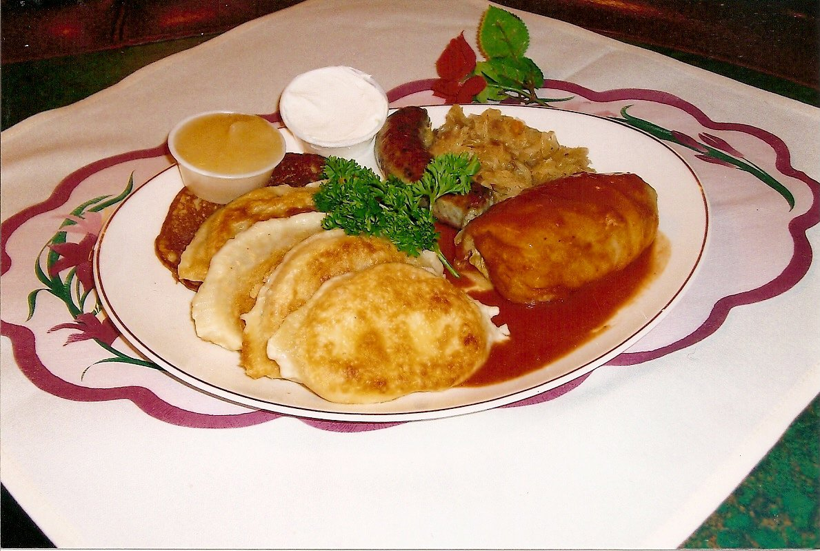 The Polish Plate (not one of the new menu items) gets you a sampling of all the classics: stuffed cabbage, Polish sausage, pierogi, and potato pancake.