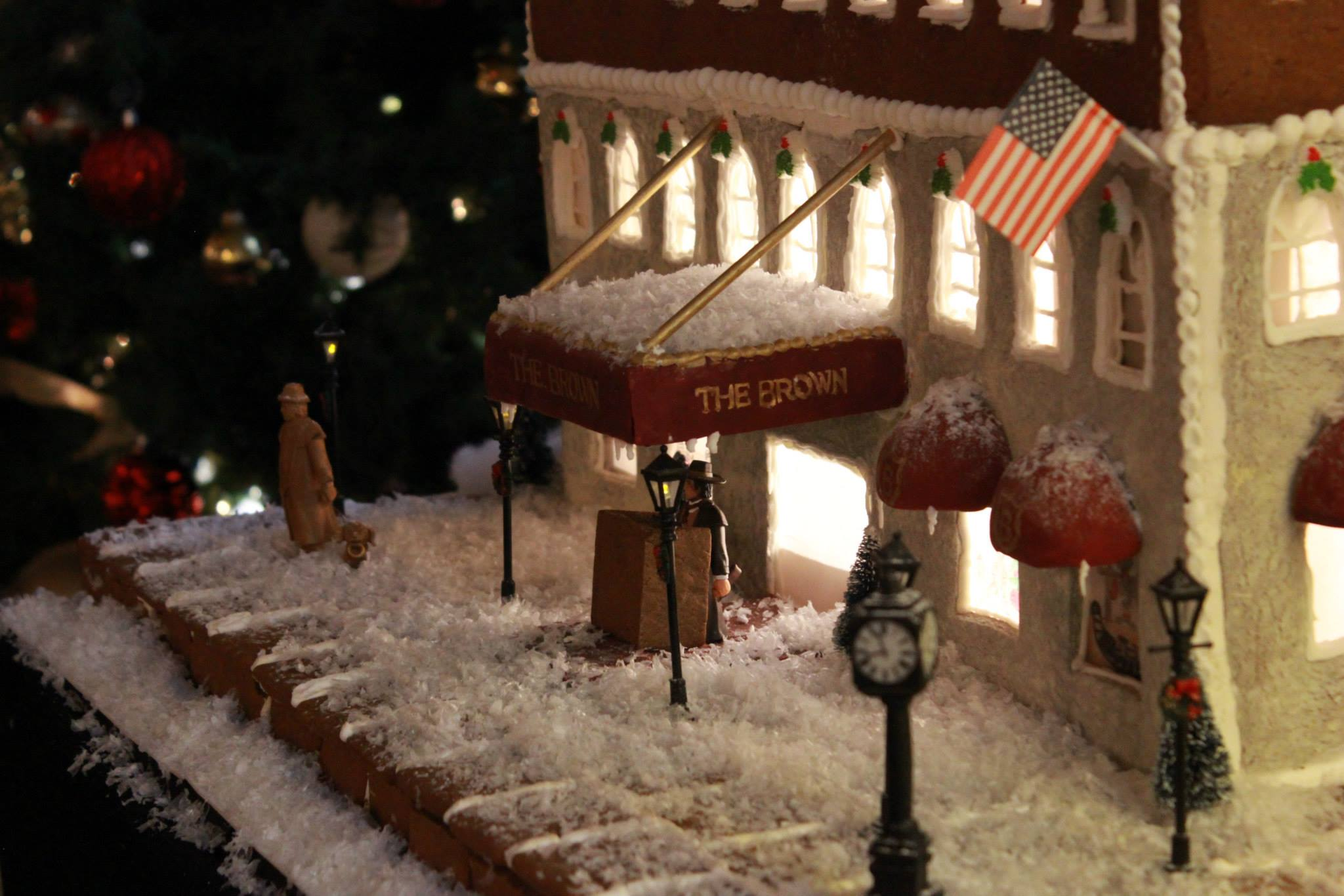 The GingerBrown is a replica of Louisville's Brown Hotel made from gingerbread and icing.