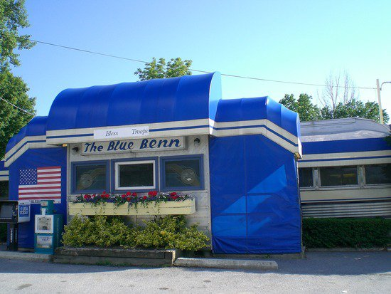 The Blue Benn Diner of Bennington, VT, chosen as one of the 21 best diners in the U.S.