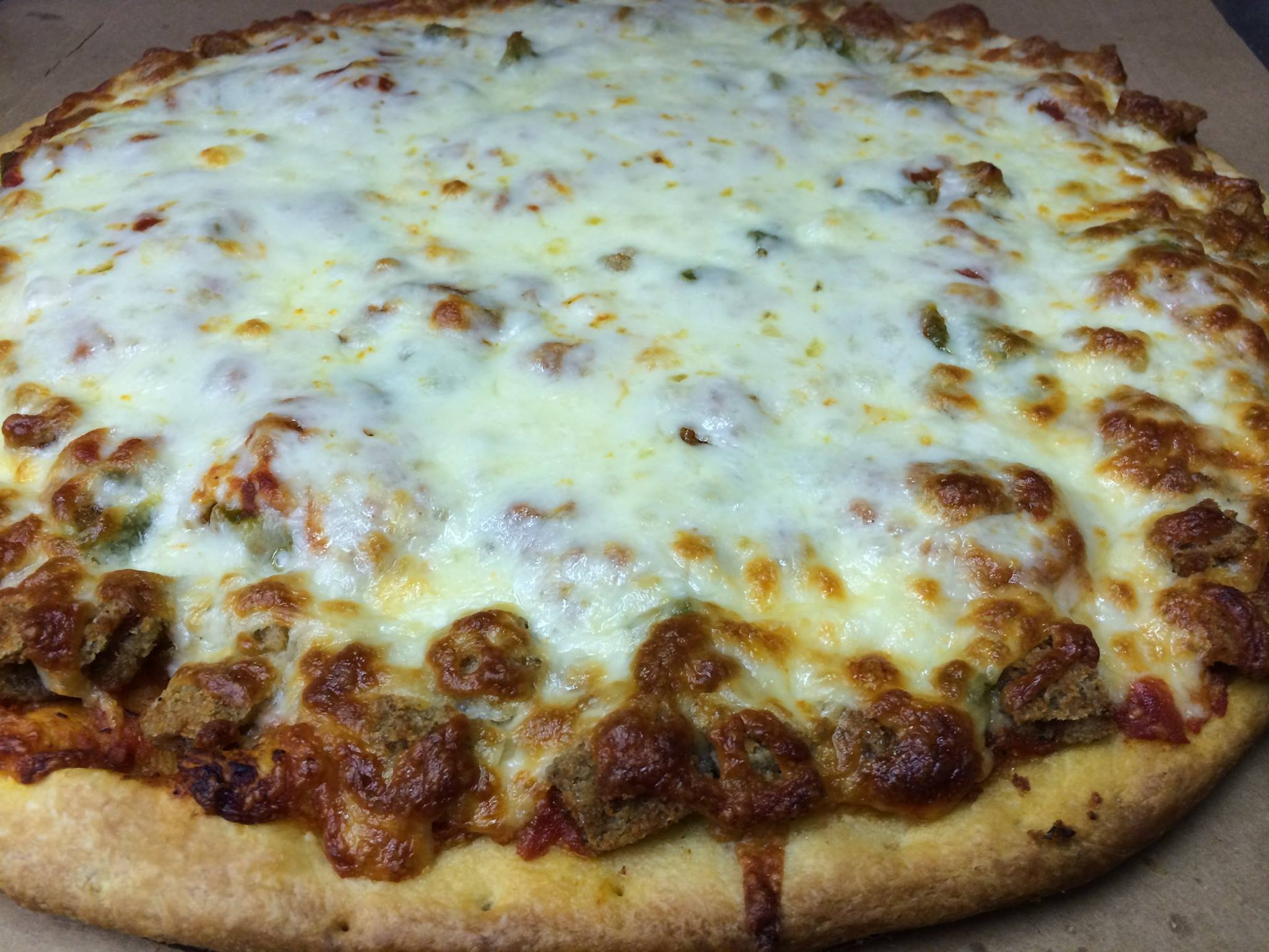 Ricobene's Breaded Steak Pizza - if it's even half as good as the sandwich this is something we have to try!