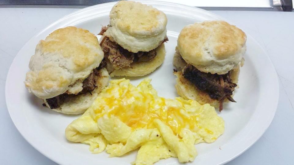Brisket Biscuit Sliders at Bisbee Breakfast Club of Mesa
