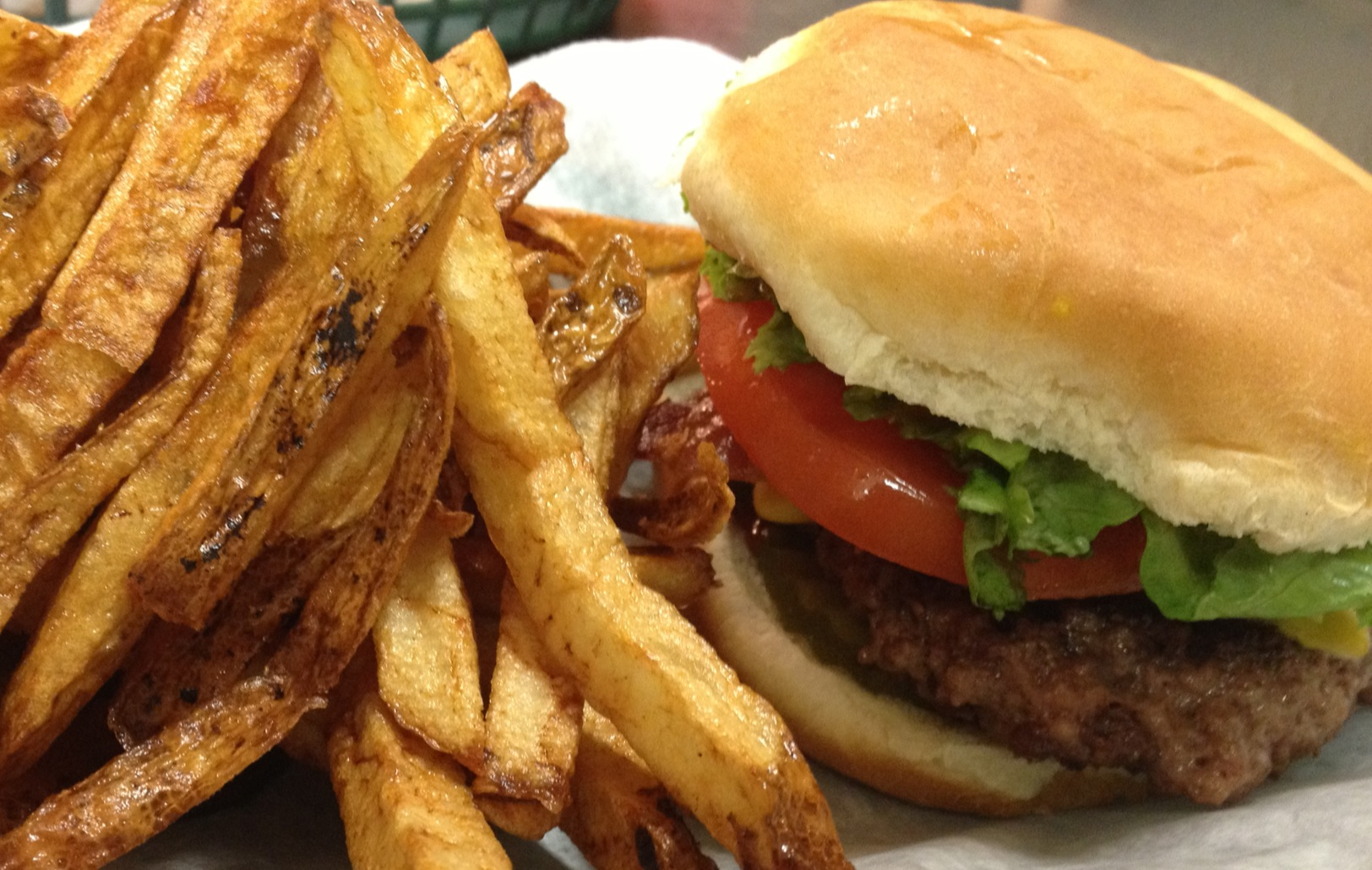 The burger at Phillips Grocery in Oxford, MS was cited by Atlanta chef  Robert Phalen as his all-time favorite.