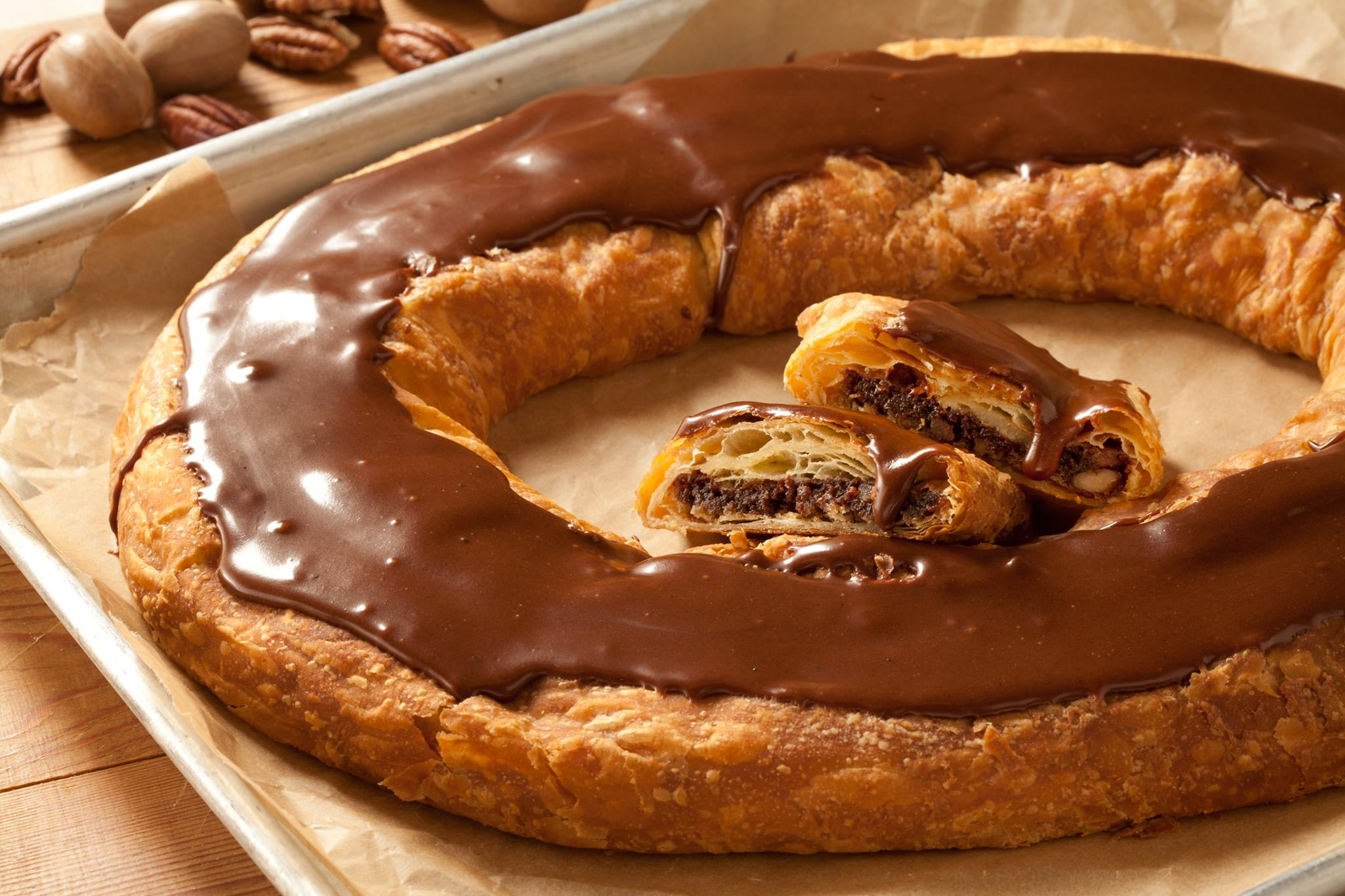 Chocolate pecan kringle from O&H Danish Bakery of Racine, WI
