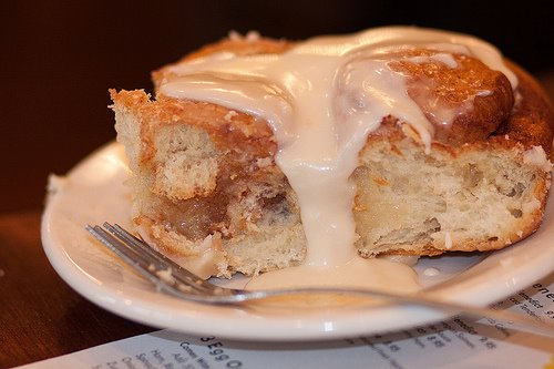 One of Ann Sather's beloved cinnamon rolls