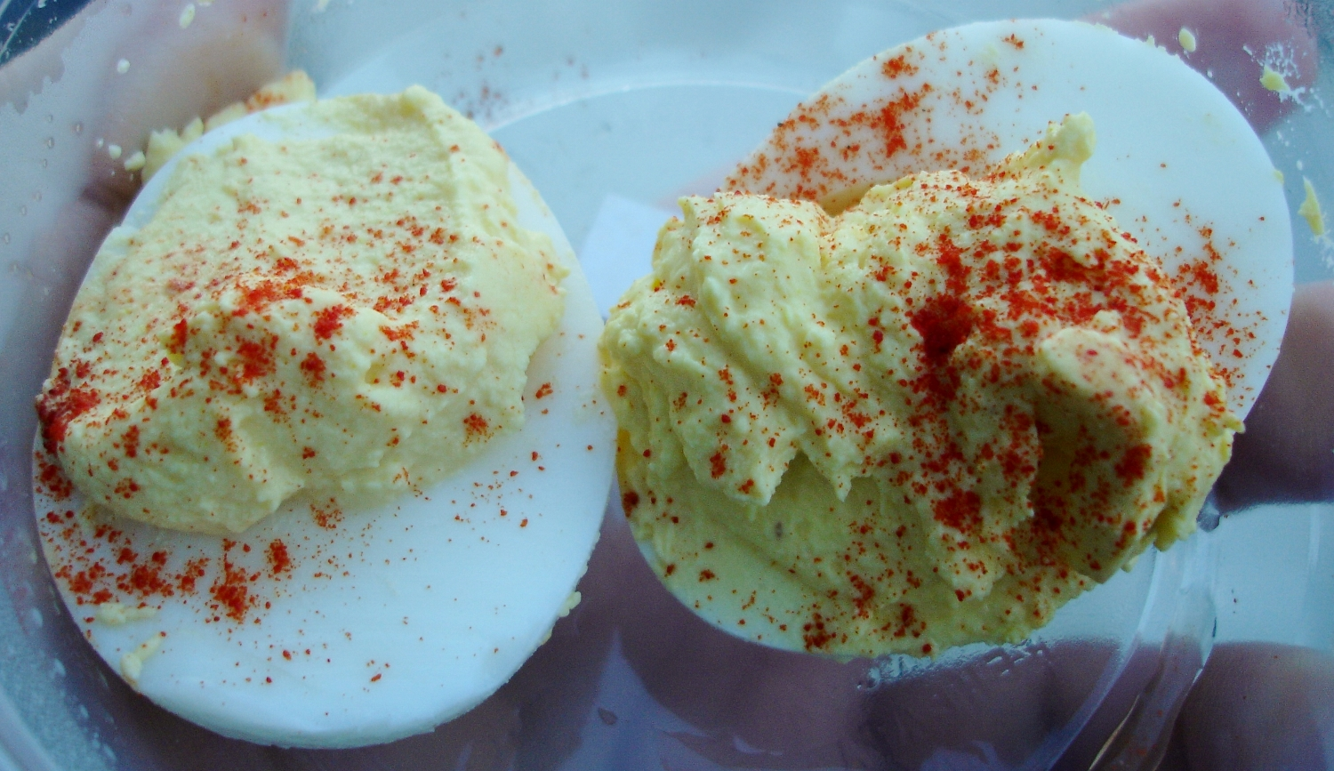 We found some homemade deviled eggs with a nice mustard kick in the refrigerator case.