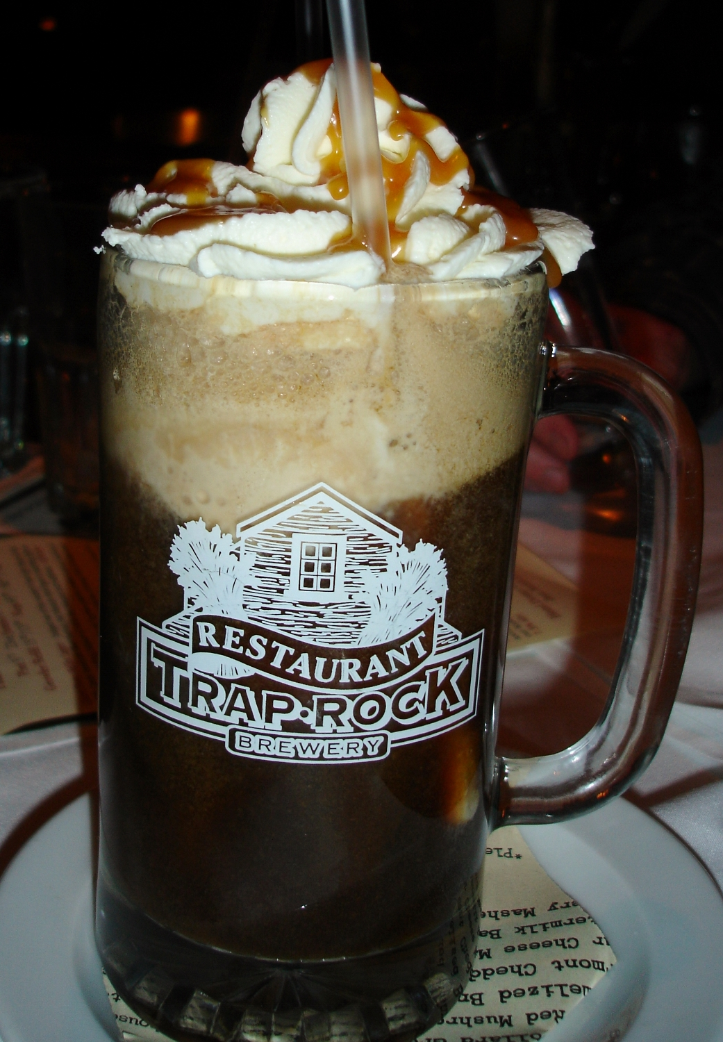 The beer float is made with their rich, dark porter but, you know what? We're not sold on this in-vogue idea. Root beer is a better base for ice cream, whipped cream, and caramel sauce.