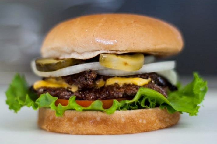 The Double Steakburger from Steak 'n Shake, Chef David Barzelay's favorite fast-food burger.