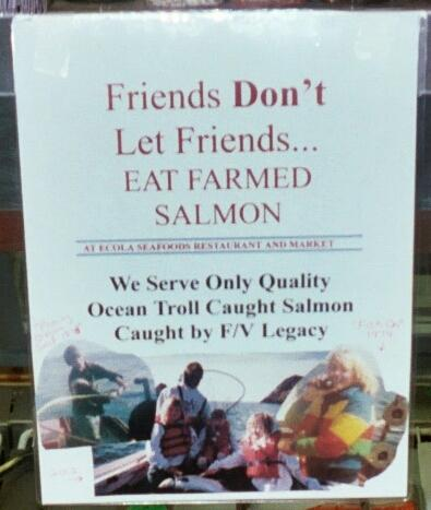 Ecola takes great pride in the quality of their seafood.