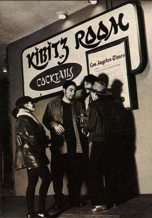 The Wallflowers outside the Kibitz Room, the lounge attachment to LA's Canter's Deli