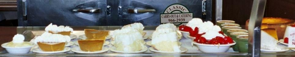 The dessert line offers many cafeteria classics.