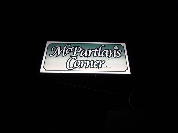 Sign, McPartlan's Corner, Amherst, NY
